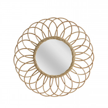 Miroir rond osier Jane