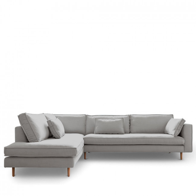 Canapé d'angle gauche tissu Stockholm