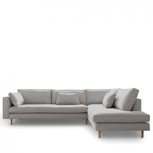 Canapé d'angle droit tissu Stockholm