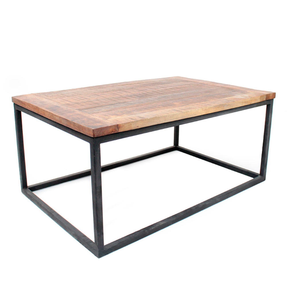 table basse bois et m tal dunk label51 drawer. Black Bedroom Furniture Sets. Home Design Ideas