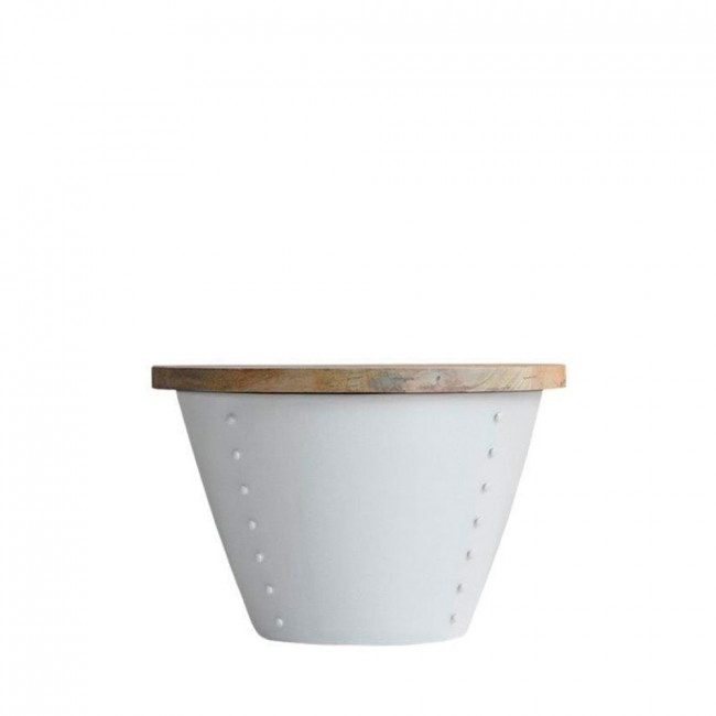 Table d'appoint bois et métal M Indi Label 51 Blanc