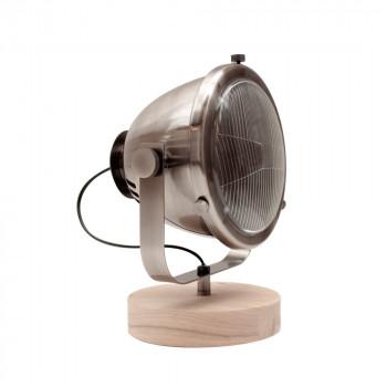 Lampe à poser rétro métal et bois MILLS Label 51