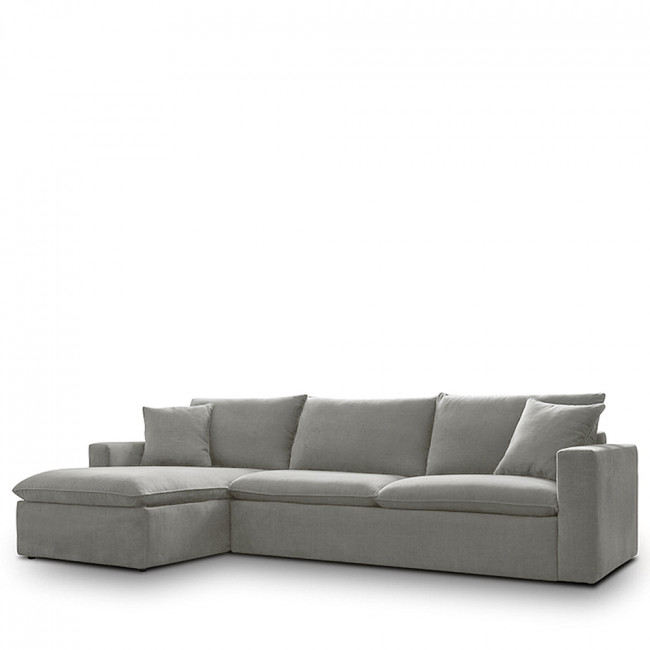 Canapé d'angle gauche tissu Mac