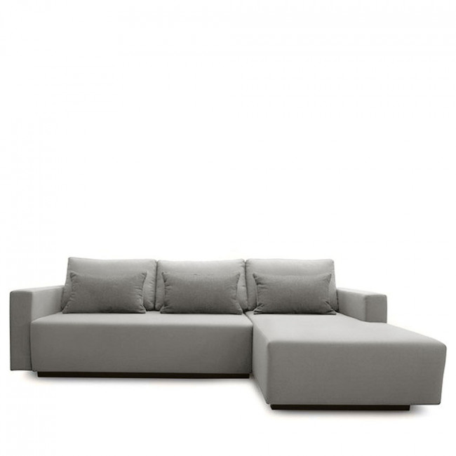 Canapé d'angle droit convertible et rangement Perfetto
