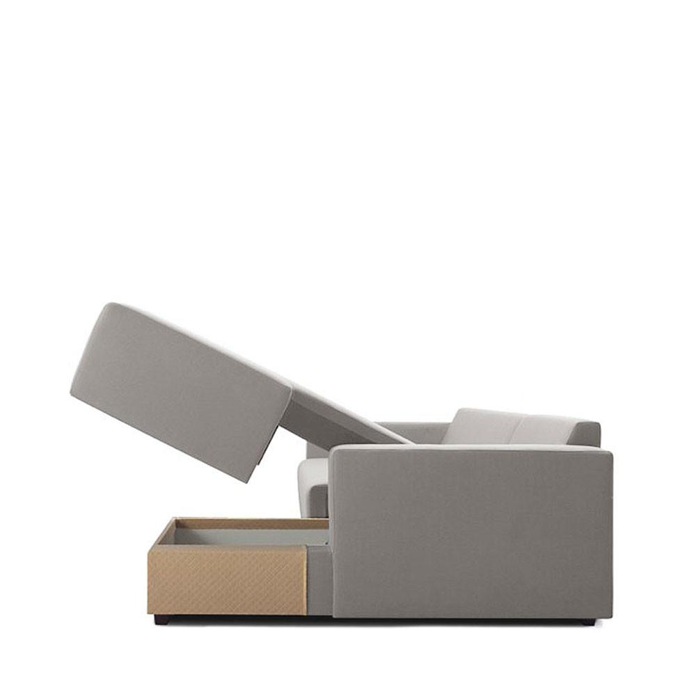 Canap d 39 angle droit convertible avec rangement perfetto drawer - Canape d angle avec rangement ...