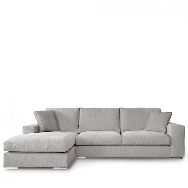 Canapé d'angle gauche tissu Pescara