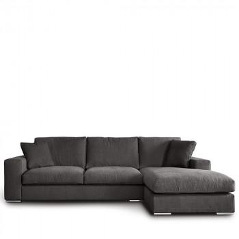Canapé d'angle droit tissu Pescara