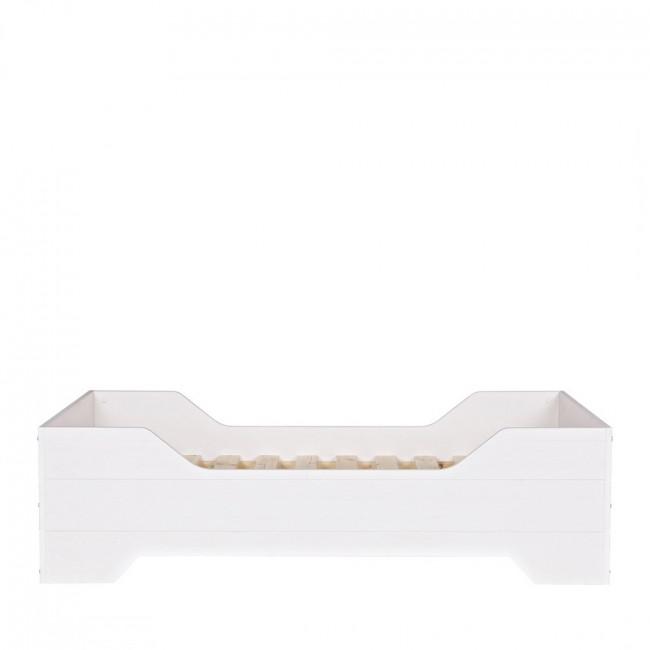 cadre de lit enfant en pin massif fsc couleur blanc fien drawer. Black Bedroom Furniture Sets. Home Design Ideas