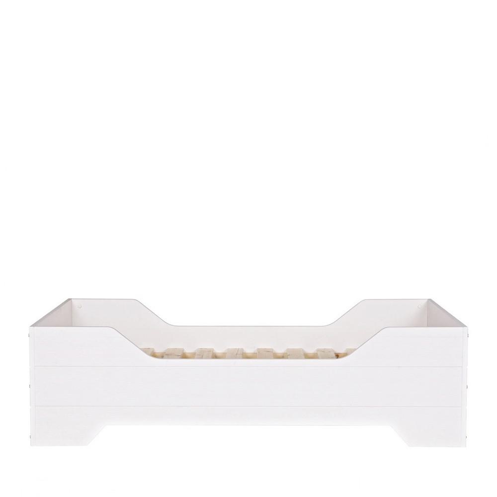 cadre de lit enfant en pin massif fsc couleur blanc fien. Black Bedroom Furniture Sets. Home Design Ideas