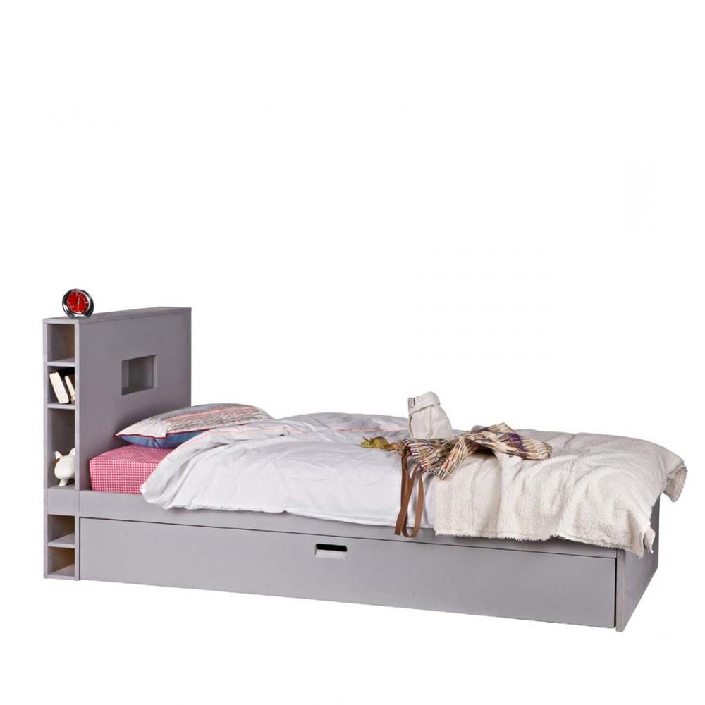 cadre de lit avec tiroir en bois 90 x 200 sam. Black Bedroom Furniture Sets. Home Design Ideas