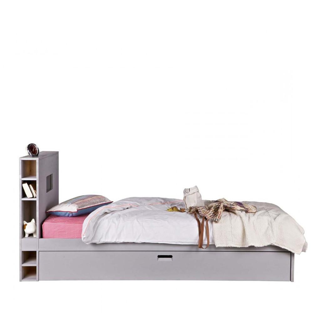 Cadre de lit avec tiroir en bois 90 x 200 sam - Cadre de lit rangement ...