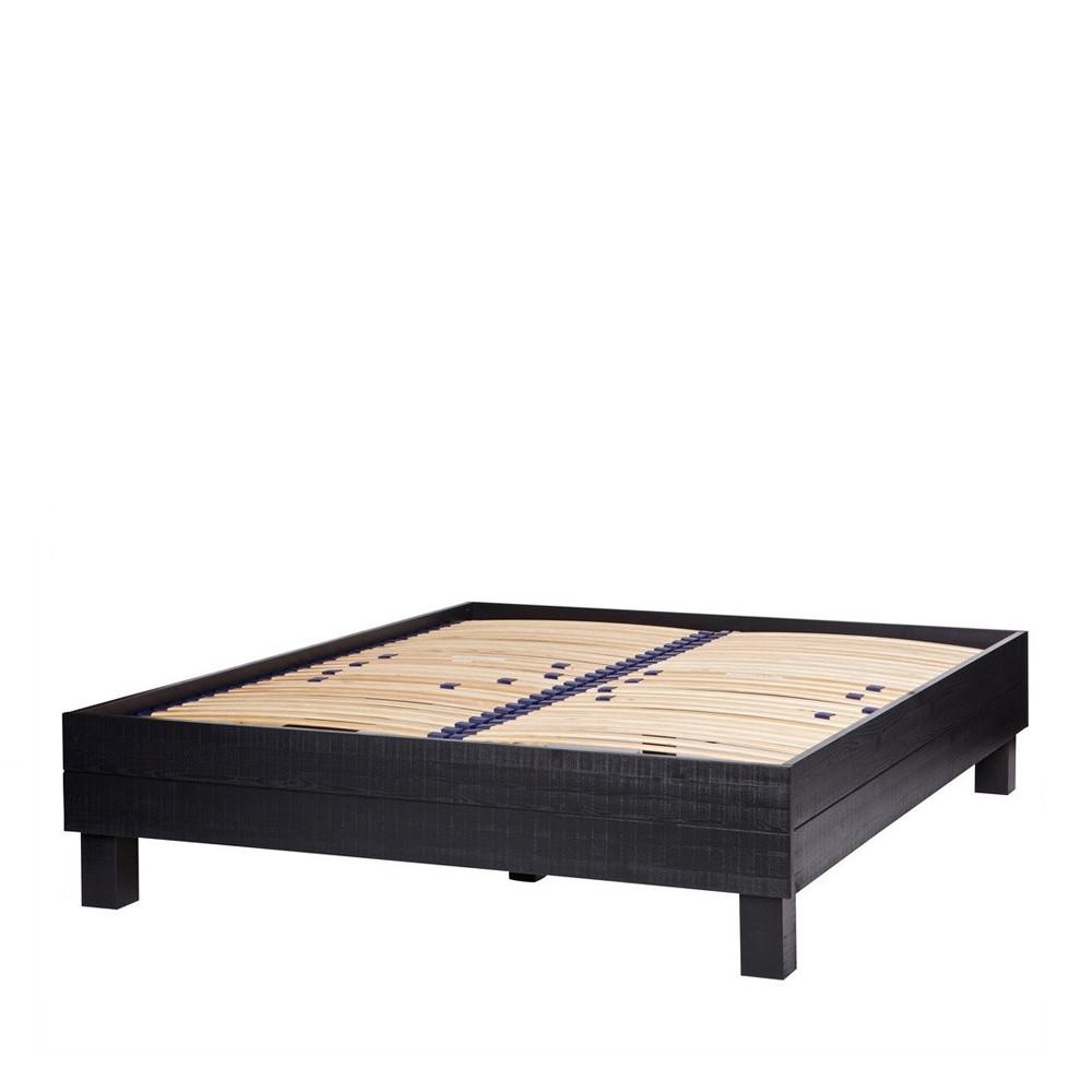 cadre de lit en pin massif fsc 160x200cm chevron drawer. Black Bedroom Furniture Sets. Home Design Ideas
