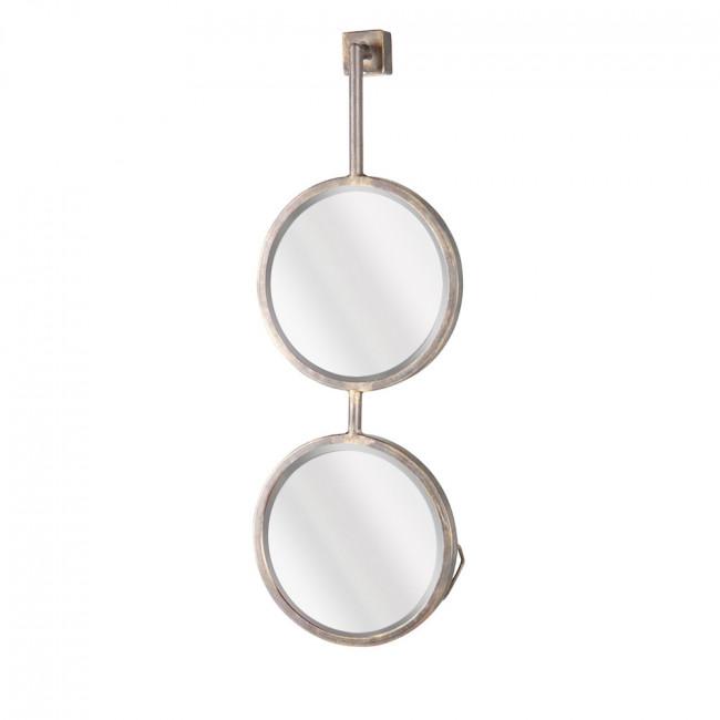 Miroir double suspendu métal M Chain