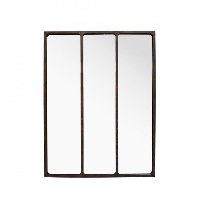 Miroir verrière métal rouillé 90x120