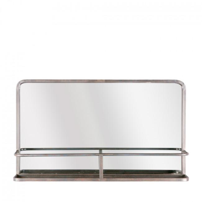 Miroir en métal avec rangement Reflection