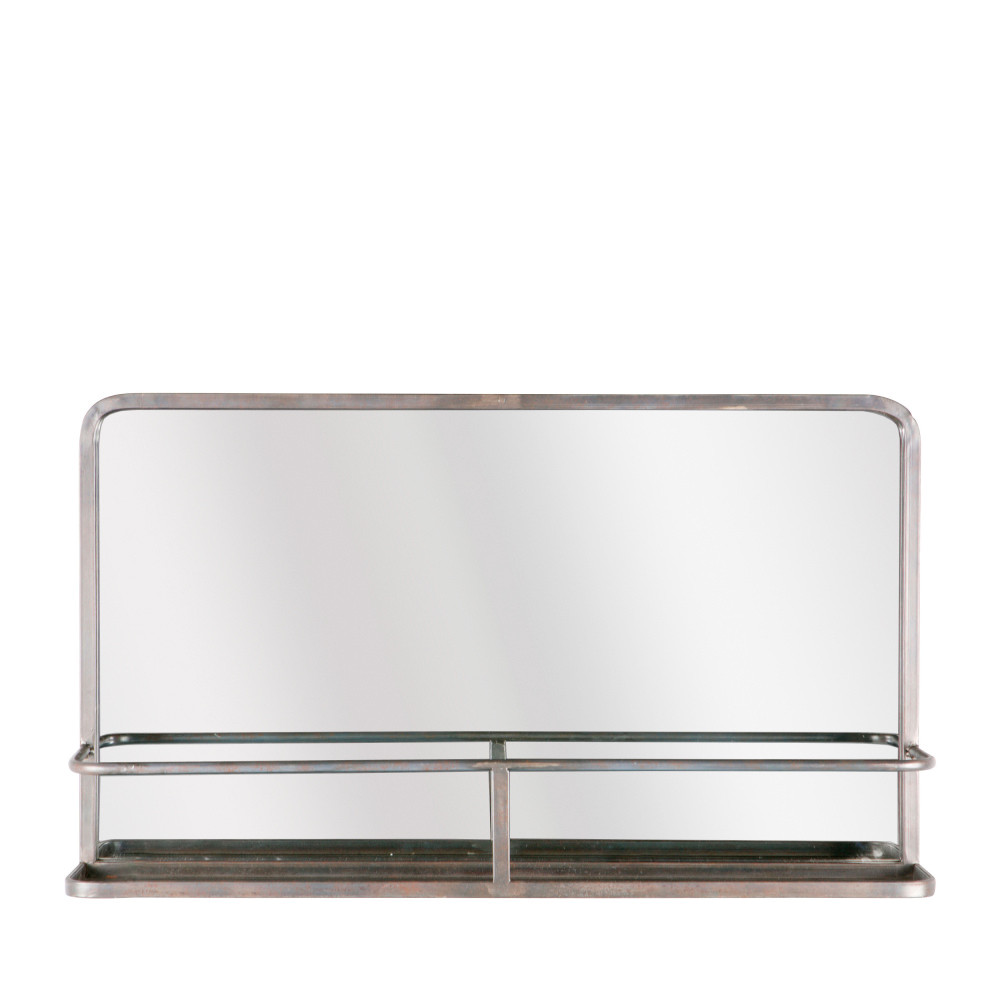 miroir en m tal avec rangement reflection drawer. Black Bedroom Furniture Sets. Home Design Ideas