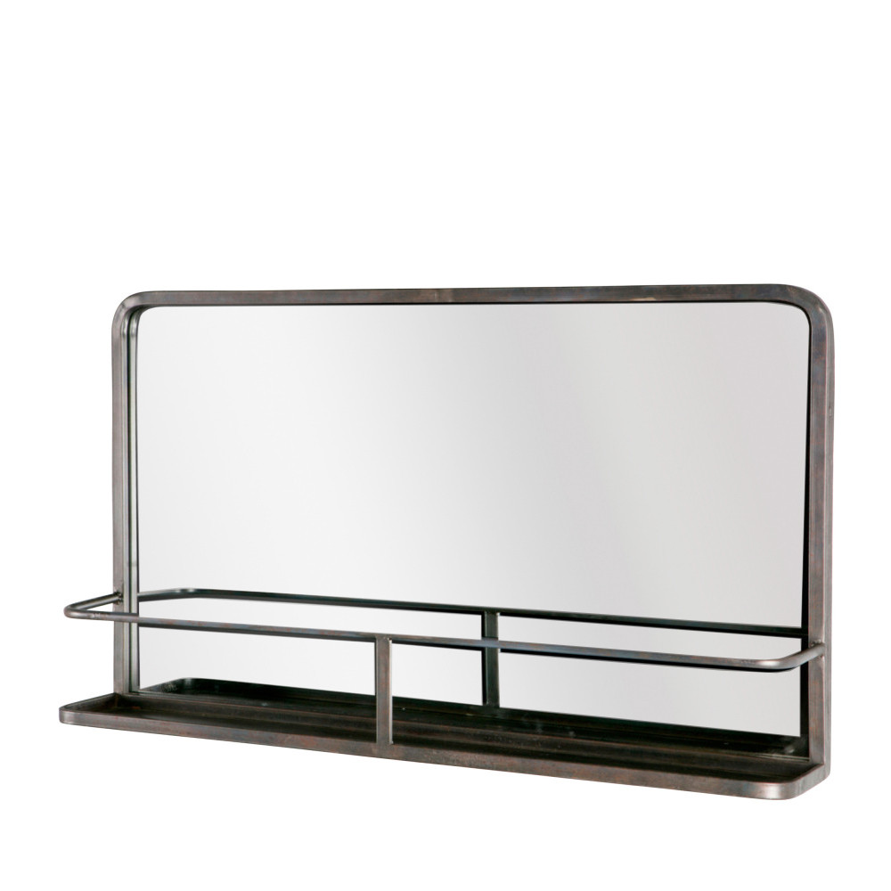 miroir en m tal avec rangement reflection drawer. Black Bedroom Furniture Sets. Home Design Ideas