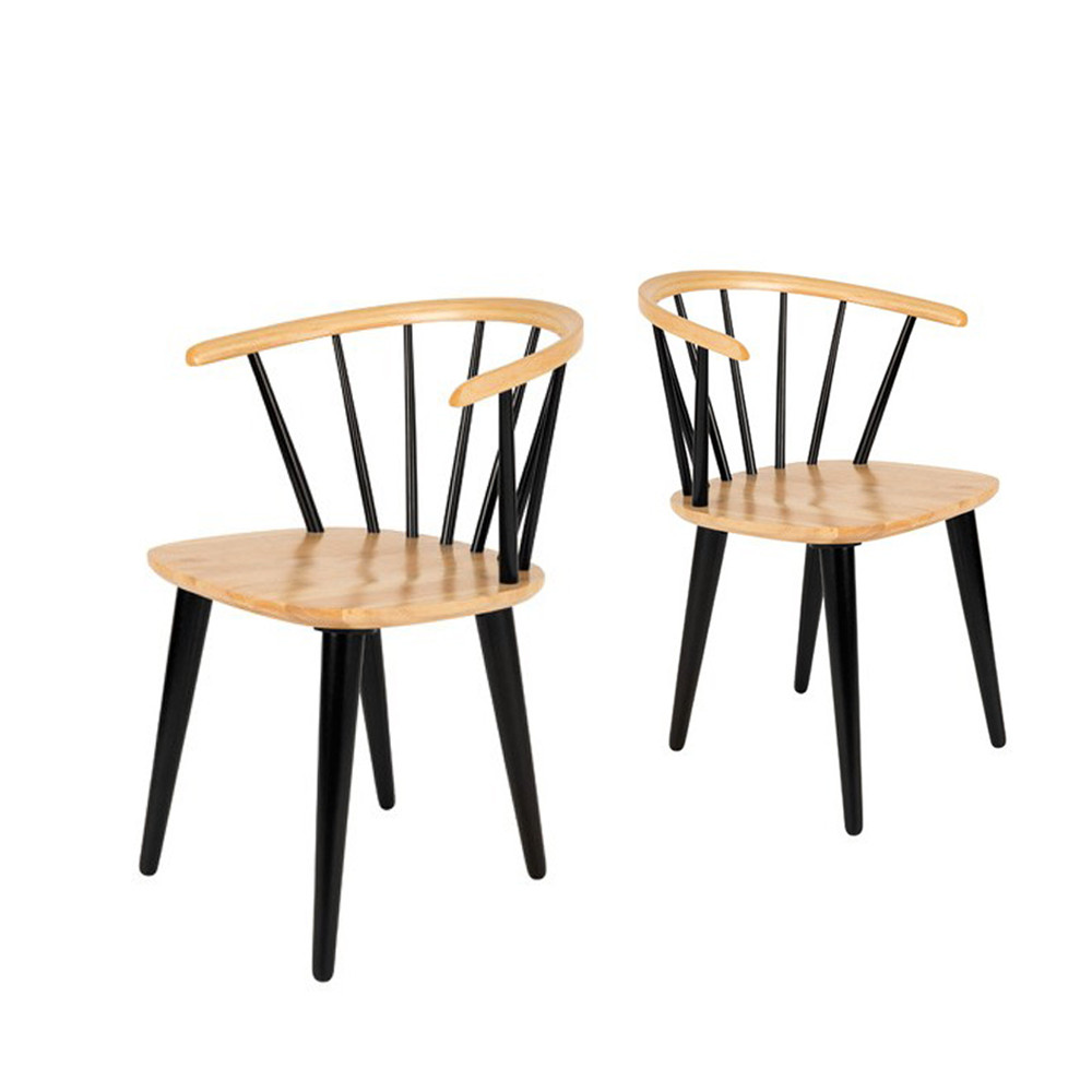 lot de 2 chaises style scandinave 50 39 s en bois gee by. Black Bedroom Furniture Sets. Home Design Ideas