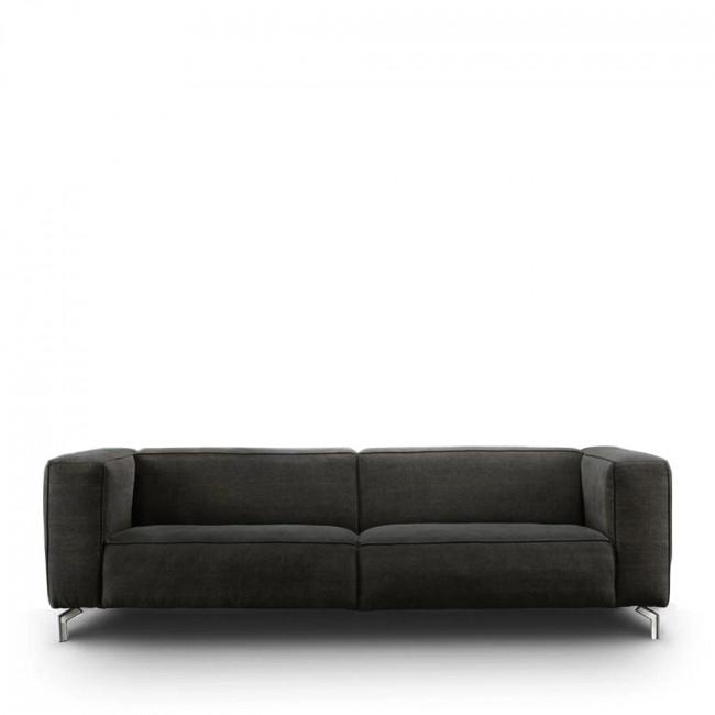 Canapé 3 places cuir et métal Montreal