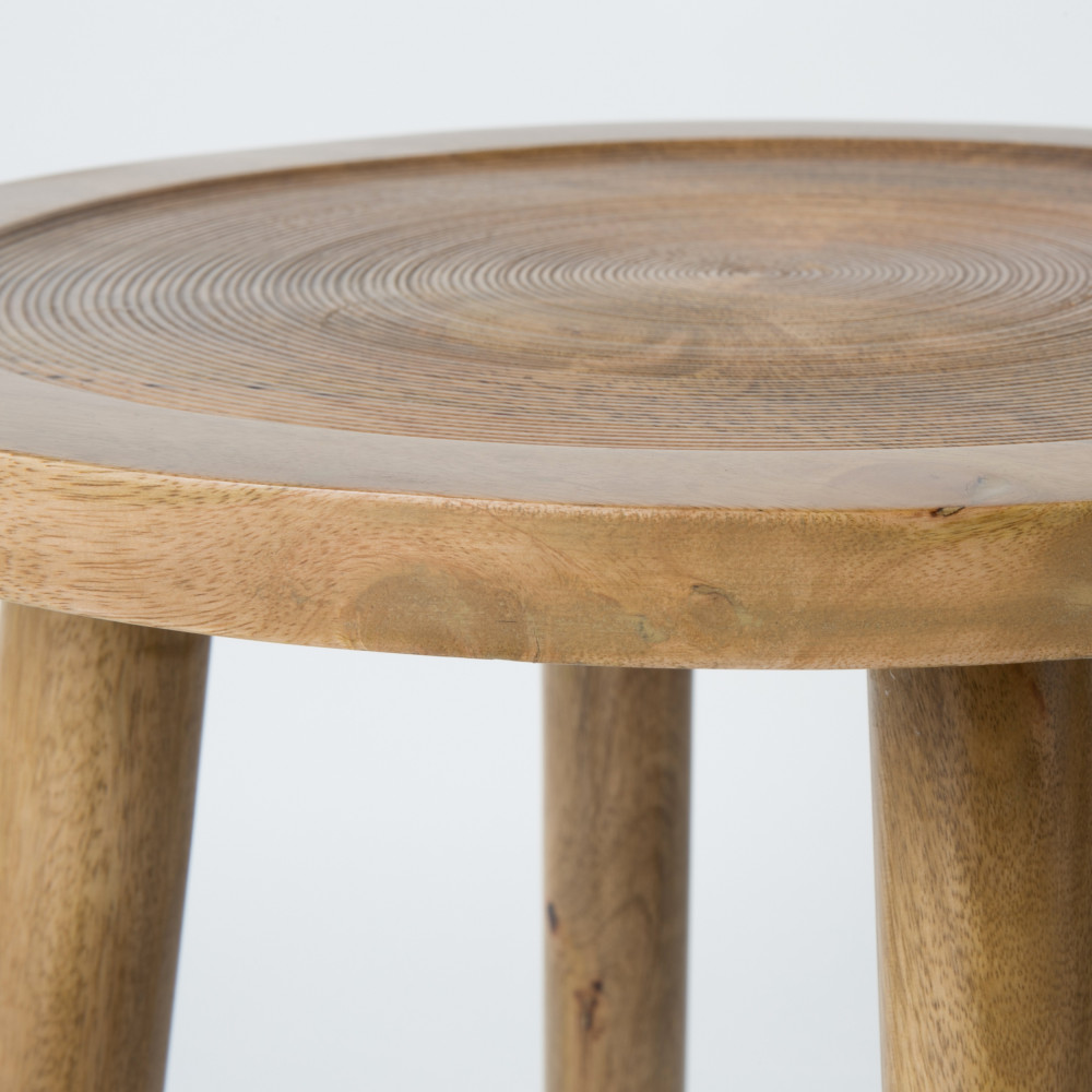 Table D Appoint Ronde Bois O43 Cm Dendron Zuiver