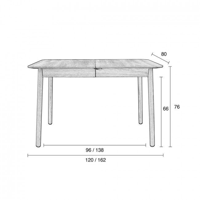 Table à manger extensible bois Glimps Zuiver