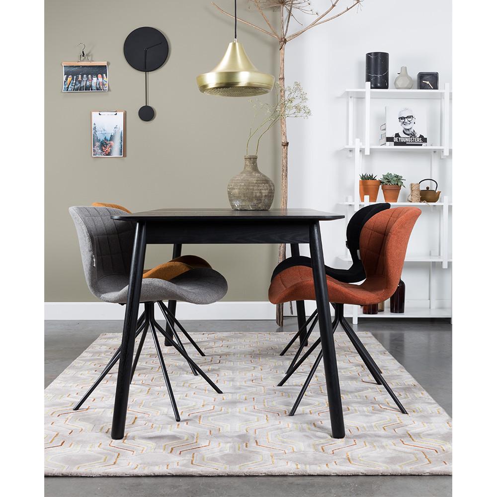table manger extensible 120 162x80cm bois glimps zuiver drawer. Black Bedroom Furniture Sets. Home Design Ideas