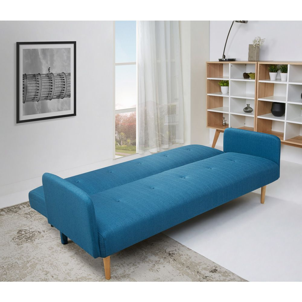 canap convertible scandinave niels bleu by drawer. Black Bedroom Furniture Sets. Home Design Ideas