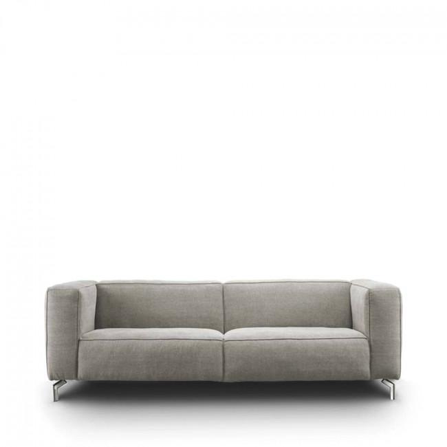 Canapé 2 places tissu et pieds métal Montreal