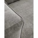 Canapé 2 places cuir et métal Chicago
