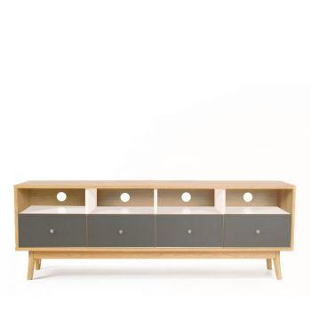 Meuble TV design scandinave 4 tiroirs Skoll