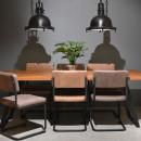 Lot de 2 chaises rétro métal et microfibres Bow Label 51 Brun