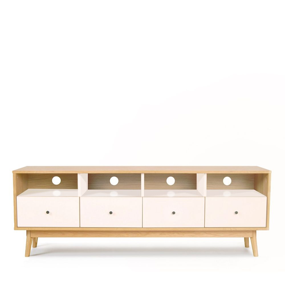 Meuble Tv Scandinave 4 Tiroirs Skoll By Drawer # Meuble Tv A Prix Discount