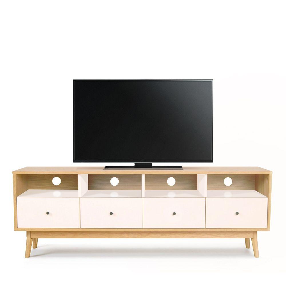 Meuble Tv Scandinave 4 Tiroirs Skoll By Drawer # Meuble De Tele Ovale