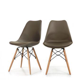 Drawer Lot de 2 chaises design metal et bois Dogewood 5760e94ded7f