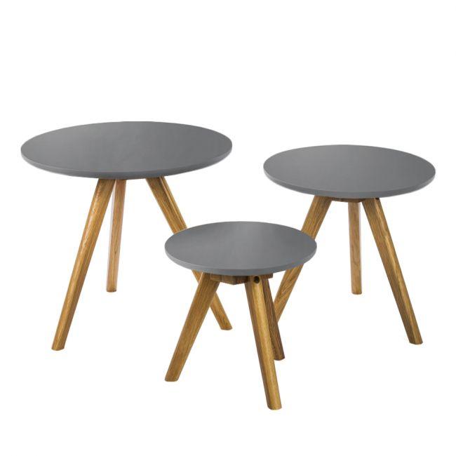 Lot de 3 tables basses bois scandinaves Soren