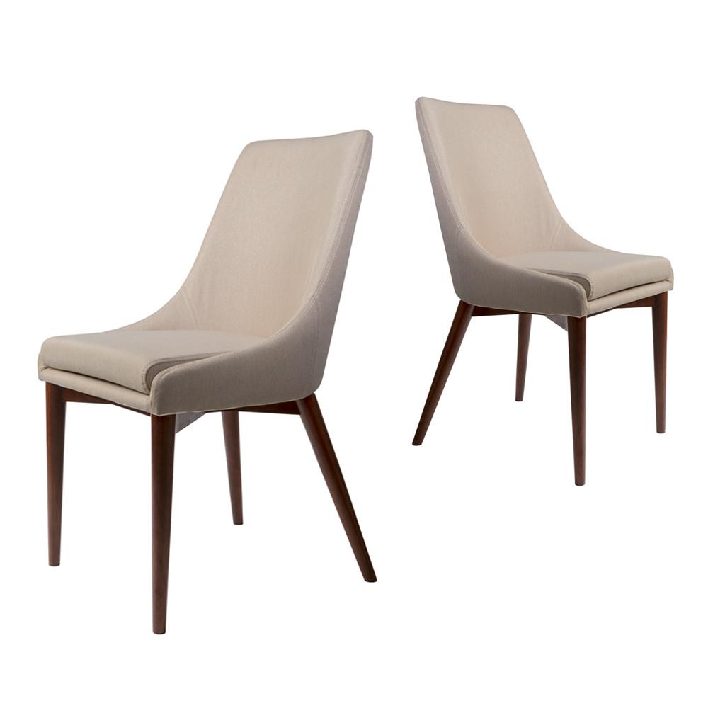 Chaises en tissu juju x2 par drawer for Soldes de chaises