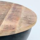 Table basse ronde bois et métal Ø71 Tagari