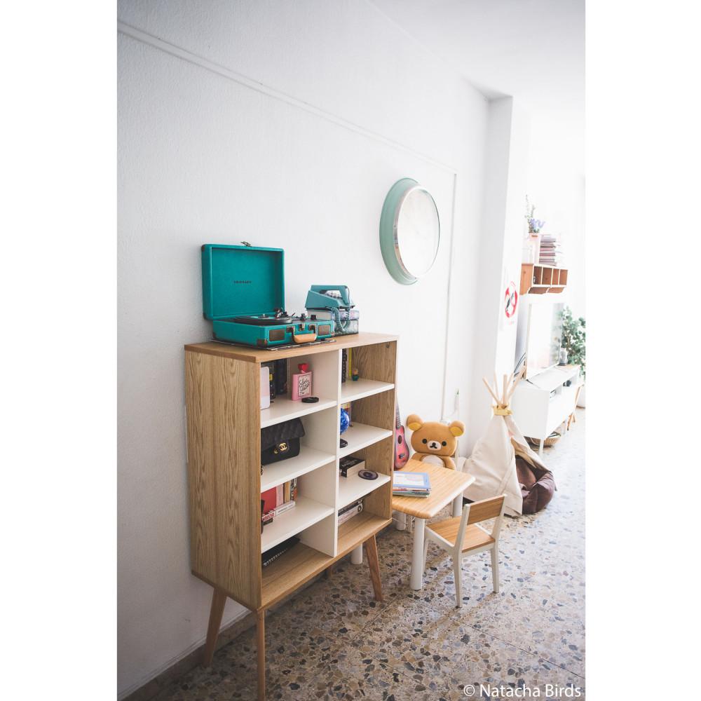bibliothèque scandinave en bois 8 niches skolldrawer.fr