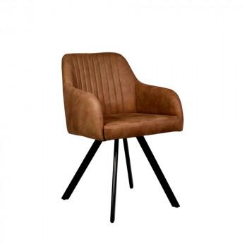 Lot de 2 fauteuils rétro métal et microfibres Floor