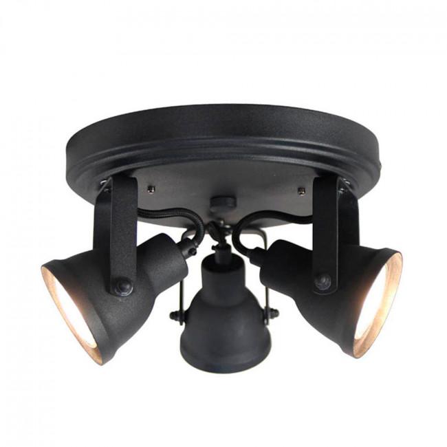 Applique/plafonnier métal L WUK Noir