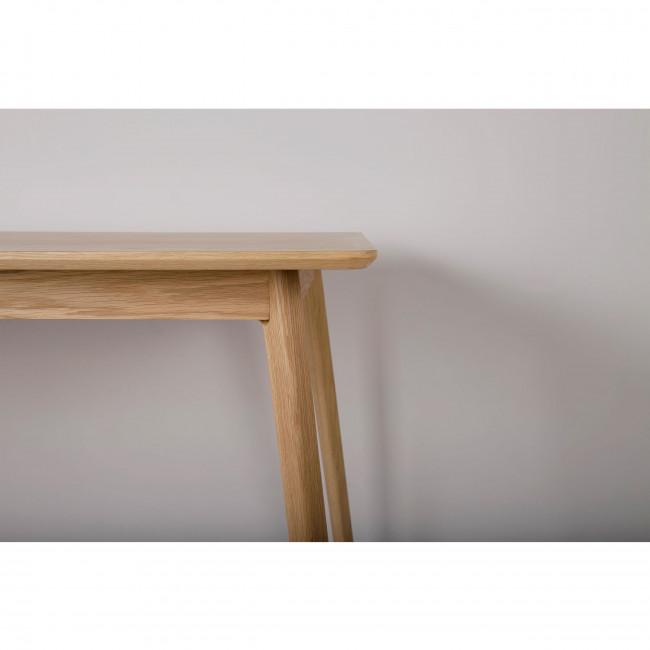 Table à manger design scandinave bois et laque blanche Skoll