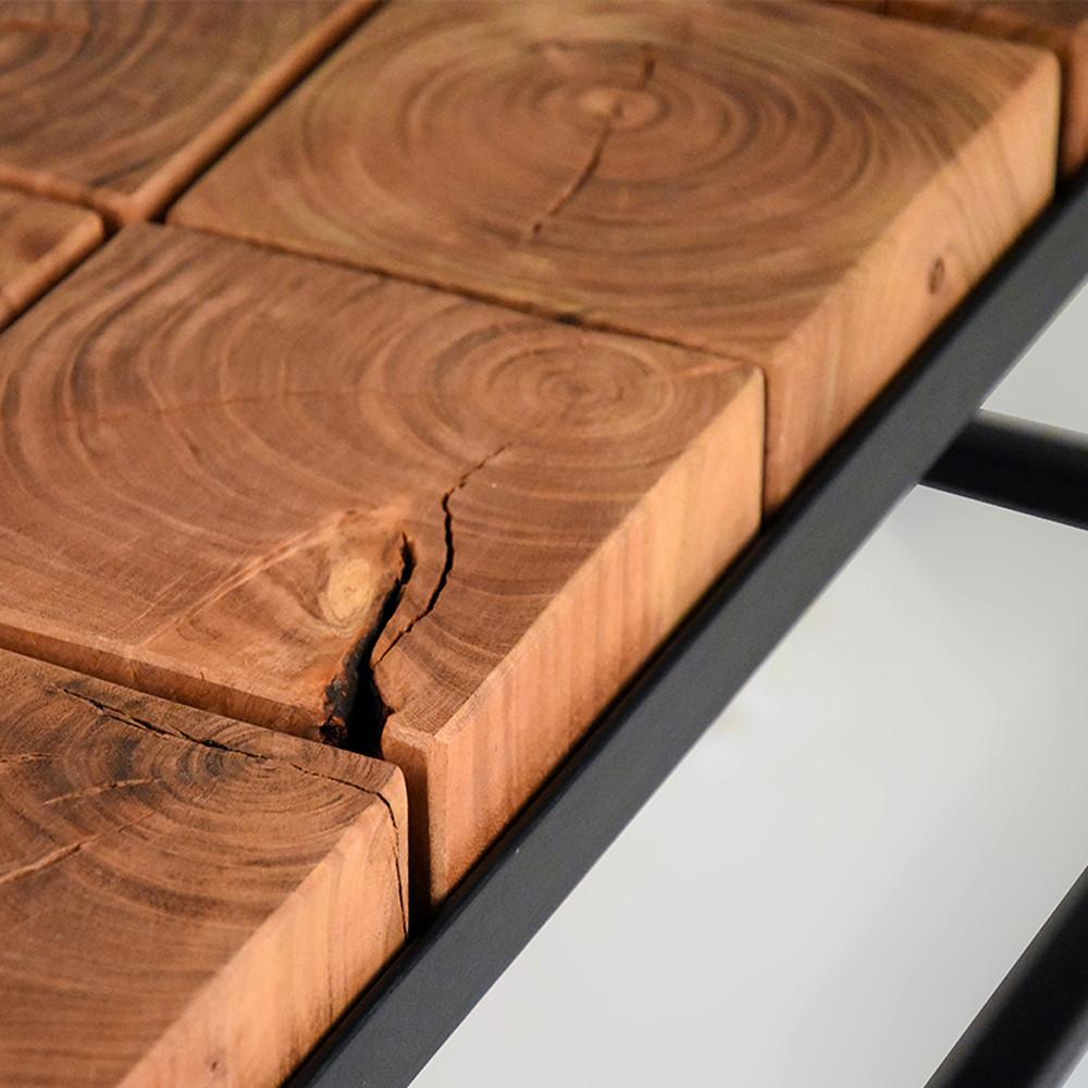 Table basse bois et m tal industriel brick label 51 drawer - Table basse gigogne industriel ...