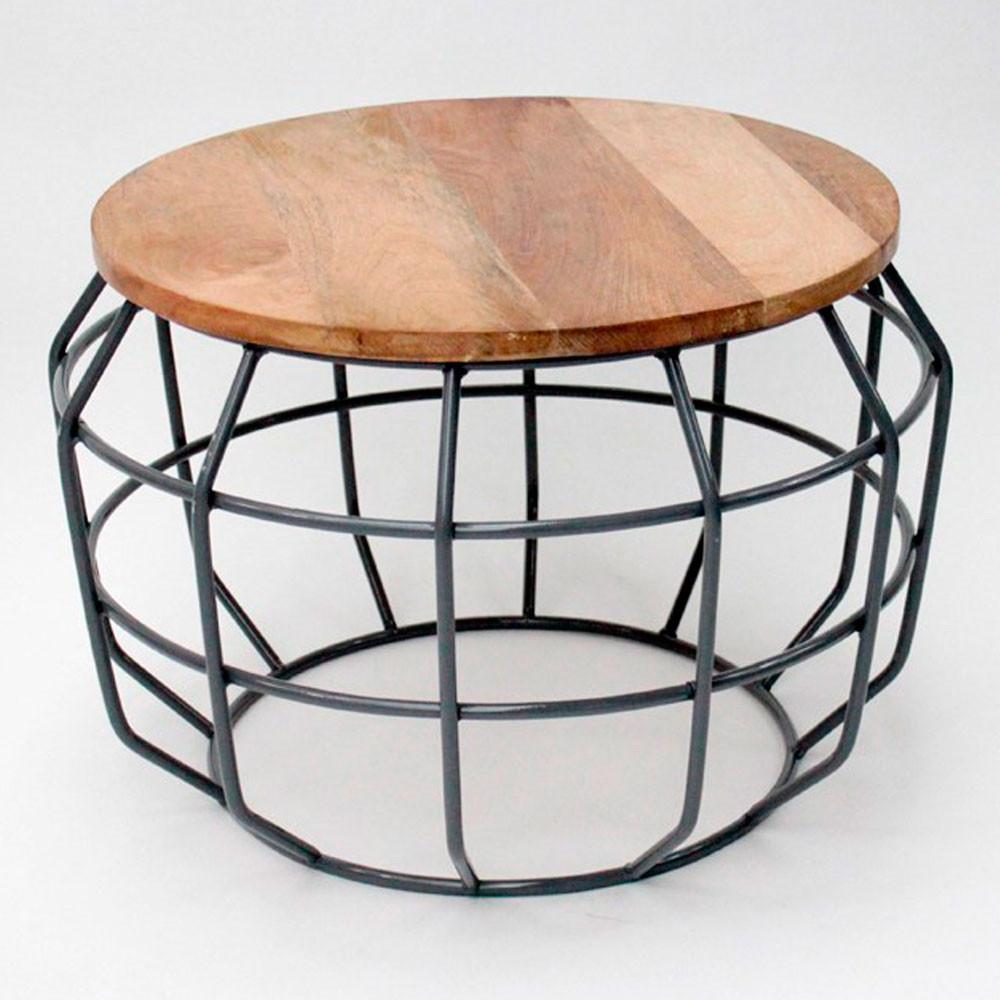 table d 39 appoint m tal et bois m pixel label51 drawer. Black Bedroom Furniture Sets. Home Design Ideas