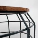 Table d'appoint métal et bois M Pixel Label51