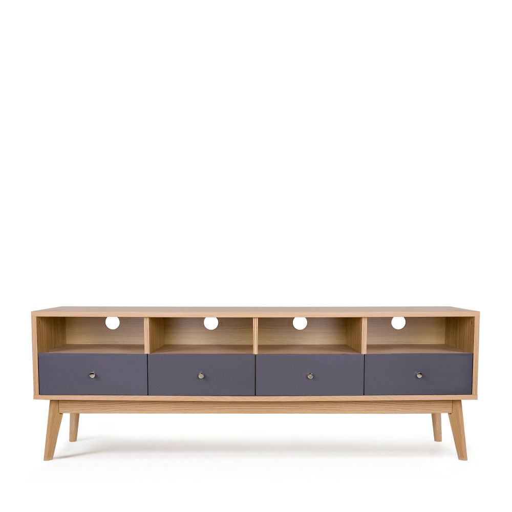 Meuble tv scandinave 4 tiroirs skoll by drawer for Meuble tv avec tiroir