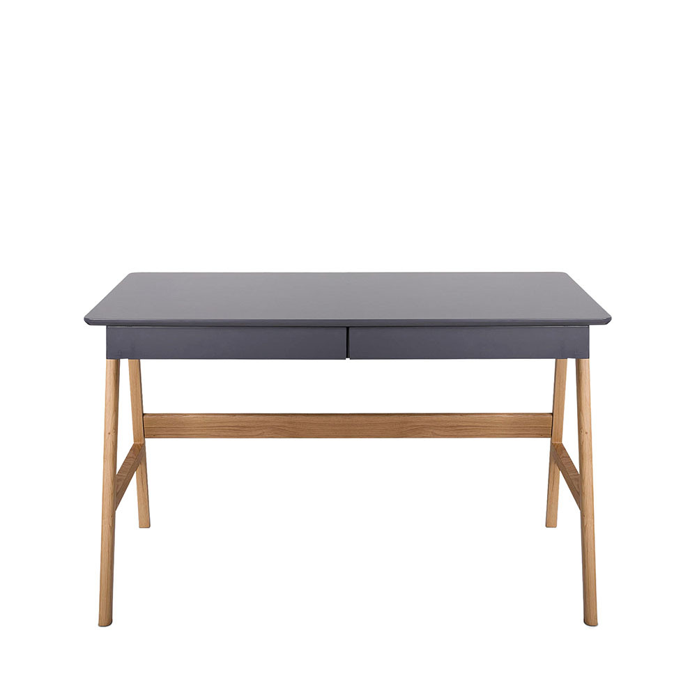 bureau laqu ch ne blanc 120x70cm skoll look scandinave. Black Bedroom Furniture Sets. Home Design Ideas