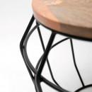 Table d'appoint métal et bois L Pixel Label51