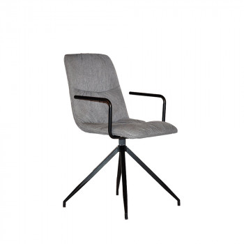 Chaise tissu accoudoirs Spike Label 51