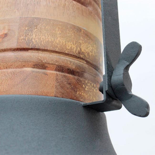 Suspension grille métal et bois Grid