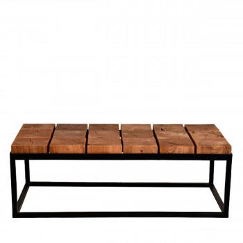Table basse bois et métal industriel Brick Label51